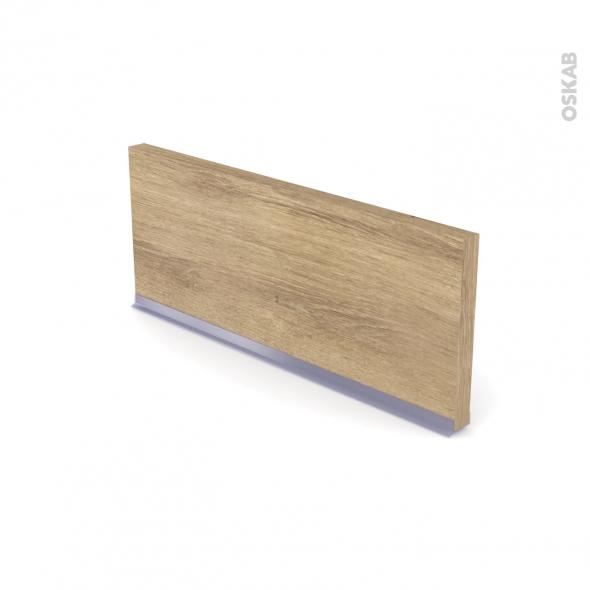 Plinthe de cuisine - HOSTA Chêne naturel - avec joint d'étanchéité - L220xH15,4