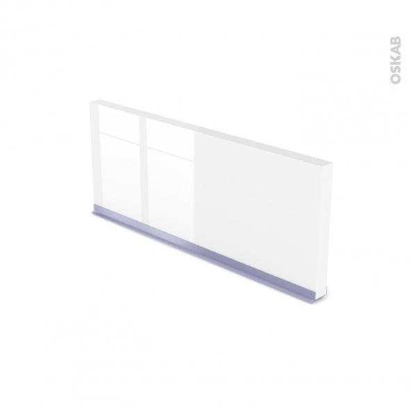 Plinthe de cuisine - IRIS Blanc - avec joint d'étanchéité - L220xH15,4
