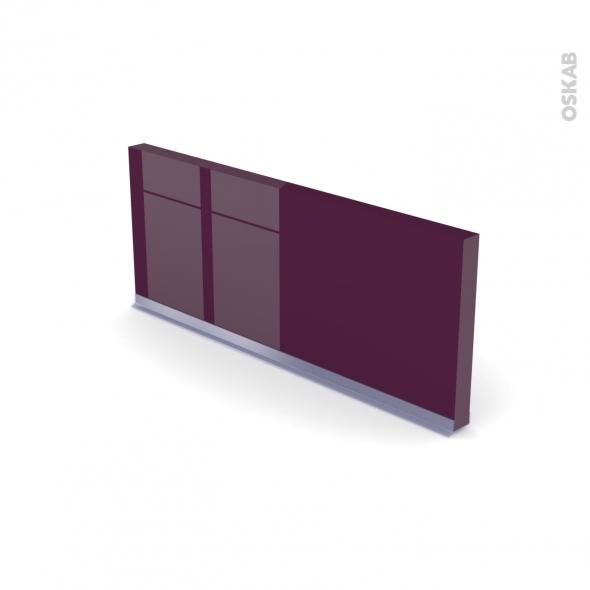 Plinthe de cuisine - KERIA Aubergine - avec joint d'étanchéité - L220xH14,4