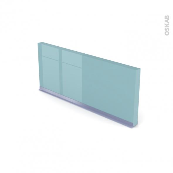 Plinthe de cuisine - KERIA Bleu - Avec joint d'étanchéité - L220xH15,4 cm