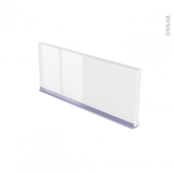 STECIA Blanc - plinthe N°35 - Avec joint d'étanchéité - L220xH14,4