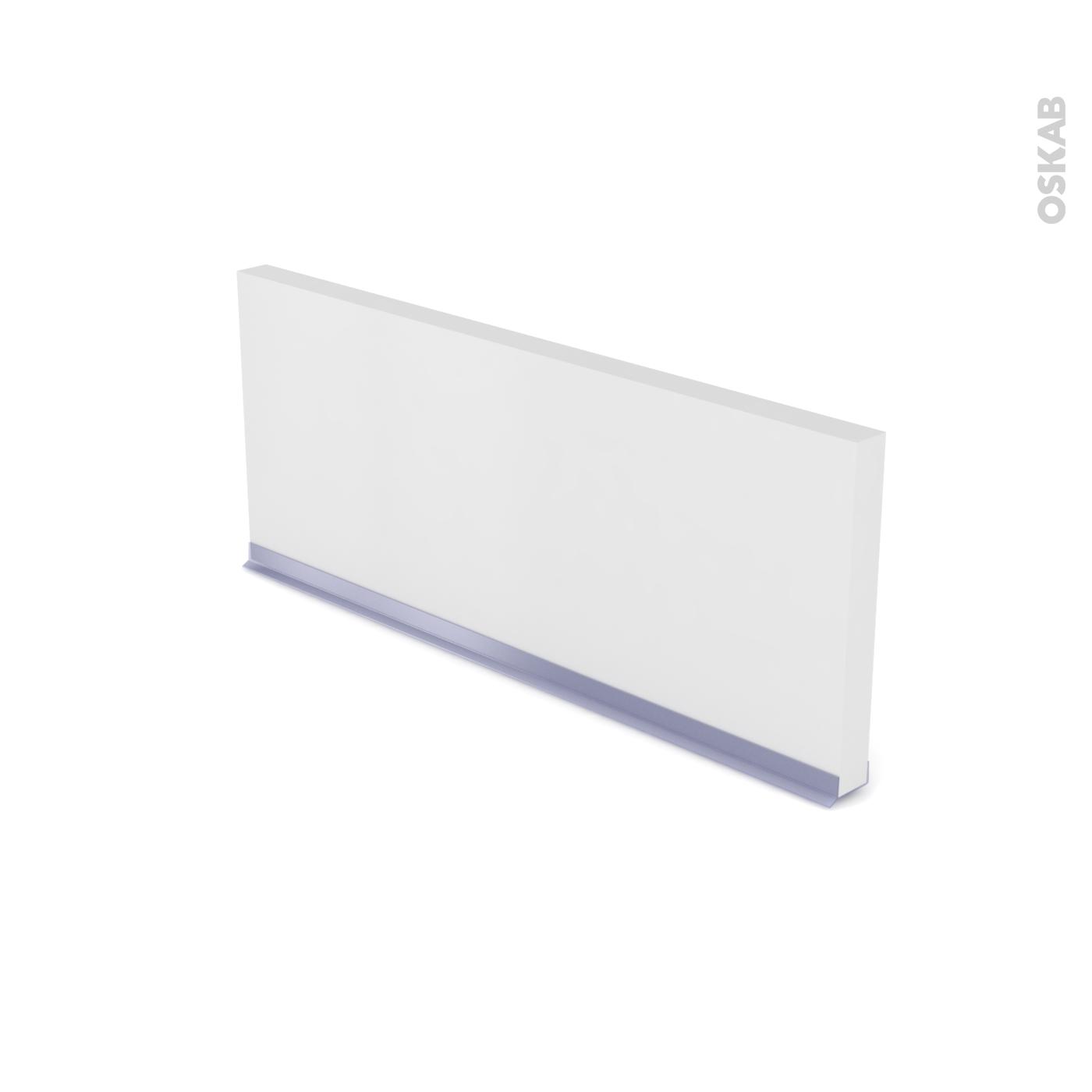 Planche Mélaminé Blanc Castorama plinthe de cuisine ginko blanc avec joint d'étanchéité, l220xh15,4 cm