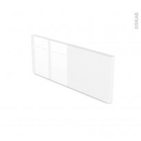 Blanc Brillant N°104 - plinthe N°35 - L220xH15