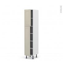SILEN Argile - Armoire étagère N°1926  - 2 portes - L40xH195xP58 - gauche