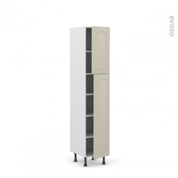 SILEN Argile - Armoire étagère N°1926  - 2 portes - L40xH195xP58 - droite