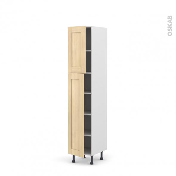 BETULA Bouleau - Armoire étagère N°1926  - 2 portes - L40xH195xP58