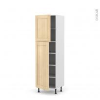 BETULA Bouleau - Armoire étagère N°2721  - 2 portes - L60xH195xP58