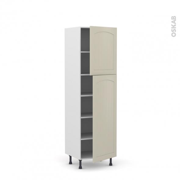 SILEN Argile - Armoire étagère N°2127  - 2 portes - L60xH195xP58 - droite