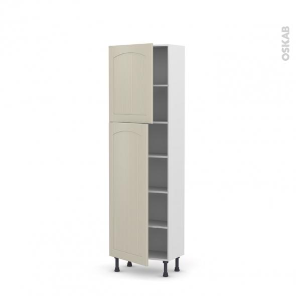 SILEN Argile - Armoire étagère N°2127   - Prof.37  2 portes - L60xH195xP37 - gauche