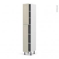 SILEN Argile - Armoire étagère N°2326  - 2 portes - L40xH217xP58 - gauche