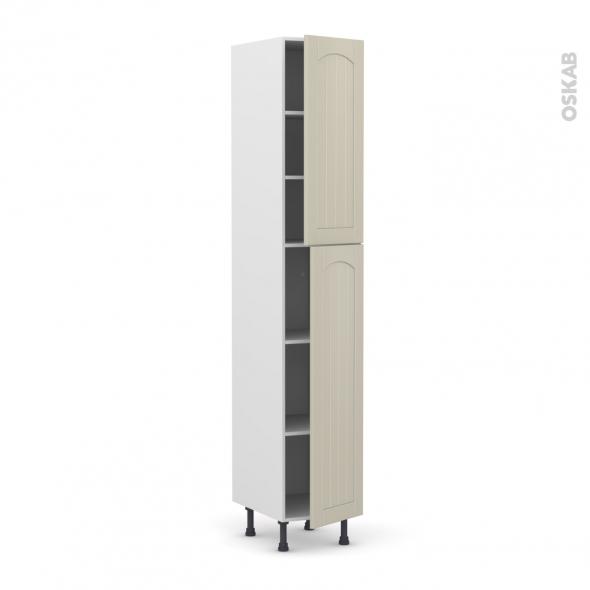 SILEN Argile - Armoire étagère N°2326  - 2 portes - L40xH217xP58 - droite