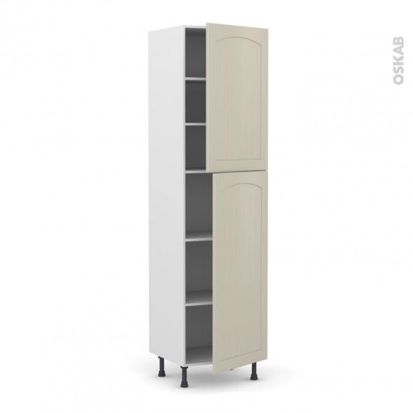 SILEN Argile - Armoire étagère N°2427  - 2 portes - L60xH217xP58 - droite