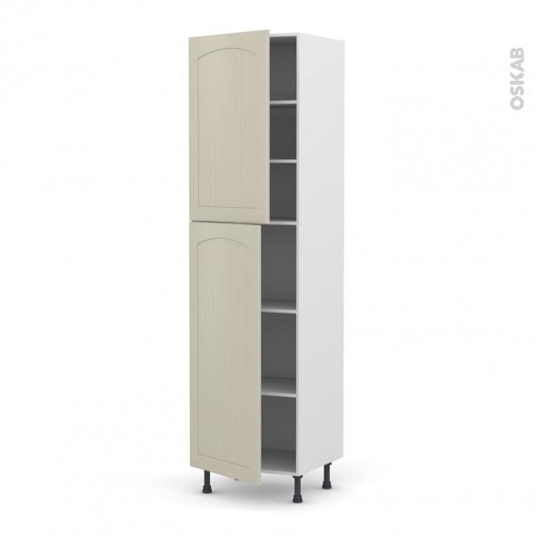 SILEN Argile - Armoire étagère N°2427  - 2 portes - L60xH217xP58 - gauche