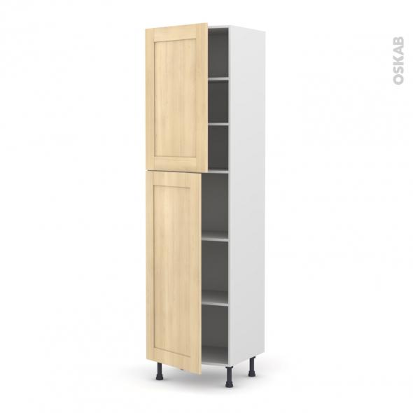 BETULA Bouleau - Armoire étagère N°2427  - 2 portes - L60xH217xP58