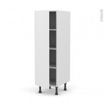 Colonne de cuisine N°26 - Armoire étagère - GINKO Blanc - 1 porte - L40 x H125 x P58 cm