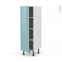 Colonne de cuisine N°26 - Armoire étagère - KERIA Bleu - 1 porte - L40 x H125 x P58 cm