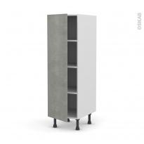 Colonne de cuisine N°26 - Armoire étagère - FAKTO Béton - 1 porte - L40 x H125 x P58 cm