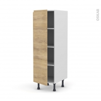 Colonne de cuisine N°26 - Armoire étagère - IPOMA Chêne naturel - 1 porte - L40 x H125 x P58 cm