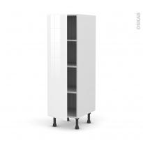 Colonne de cuisine N°26 - Armoire étagère - IRIS Blanc - 1 porte - L40 x H125 x P58 cm