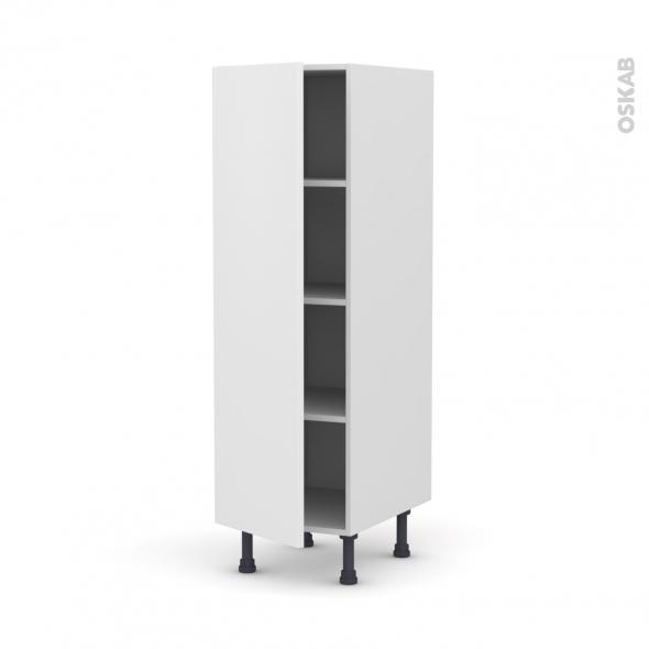 GINKO Blanc - Armoire étagère N°26  - 1 porte - L40xH125xP58