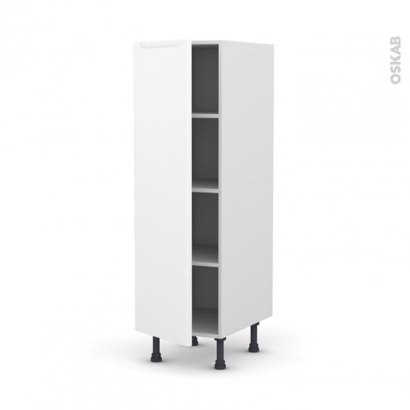 Colonne de cuisine N°26 - Armoire étagère - PIMA Blanc - 1 porte - L40 x H125 x P58 cm