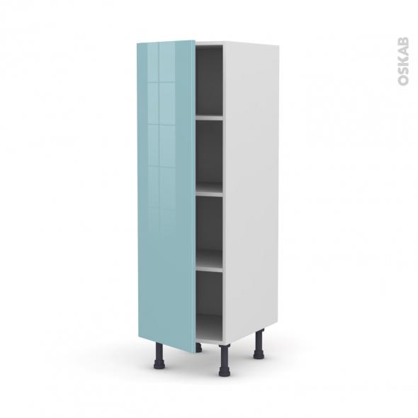 KERIA Bleu - Armoire étagère N°26  - 1 porte - L40xH125xP58