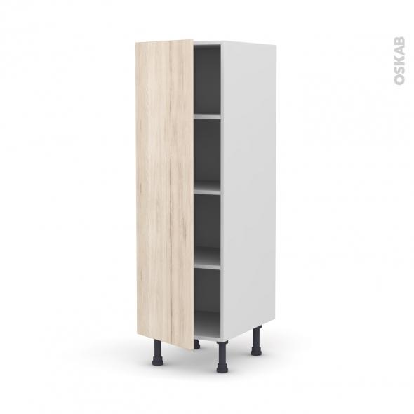 IKORO Chêne clair - Armoire étagère N°26  - 1 porte - L40xH125xP58