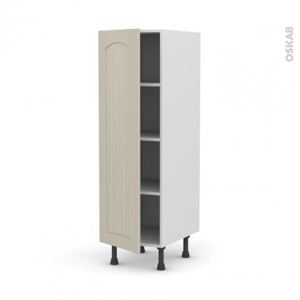 SILEN Argile - Armoire étagère N°26  - 1 porte - L40xH125xP58