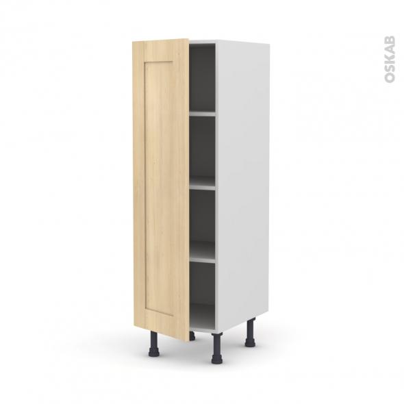 BETULA Bouleau - Armoire étagère N°26  - 1 porte - L40xH125xP58