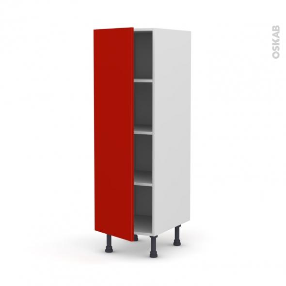 GINKO Rouge - Armoire étagère N°26  - 1 porte - L40xH125xP58