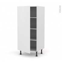 Colonne de cuisine N°27 - Armoire étagère - GINKO Blanc - 1 porte - L60 x H125 x P58 cm
