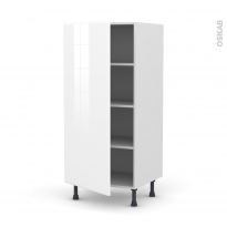 Colonne de cuisine N°27 - Armoire étagère - IRIS Blanc - 1 porte - L60 x H125 x P58 cm