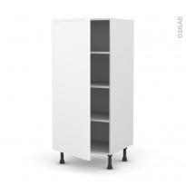 Colonne de cuisine N°27 - Armoire étagère - PIMA Blanc - 1 porte - L60 x H125 x P58 cm