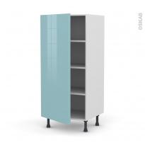 Colonne de cuisine N°27 - Armoire étagère - KERIA Bleu - 1 porte - L60 x H125 x P58 cm