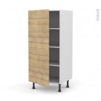 Colonne de cuisine N°27 - Armoire étagère - HOSTA Chêne naturel - 1 porte - L60 x H125 x P58 cm