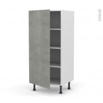 Colonne de cuisine N°27 - Armoire étagère - FAKTO Béton - 1 porte - L60 x H125 x P58 cm
