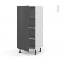 Colonne de cuisine N°27 - Armoire étagère - GINKO Gris - 1 porte - L60 x H125 x P58 cm