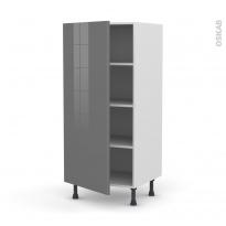 Colonne de cuisine N°27 - Armoire étagère - STECIA Gris - 1 porte - L60 x H125 x P58 cm