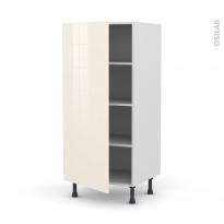 Colonne de cuisine N°27 - Armoire étagère - KERIA Ivoire - 1 porte - L60 x H125 x P58 cm