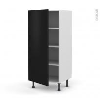 Colonne de cuisine N°27 - Armoire étagère - GINKO Noir - 1 porte - L60 x H125 x P58 cm