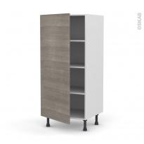 Colonne de cuisine N°27 - Armoire étagère - STILO Noyer Naturel - 1 porte - L60 x H125 x P58 cm