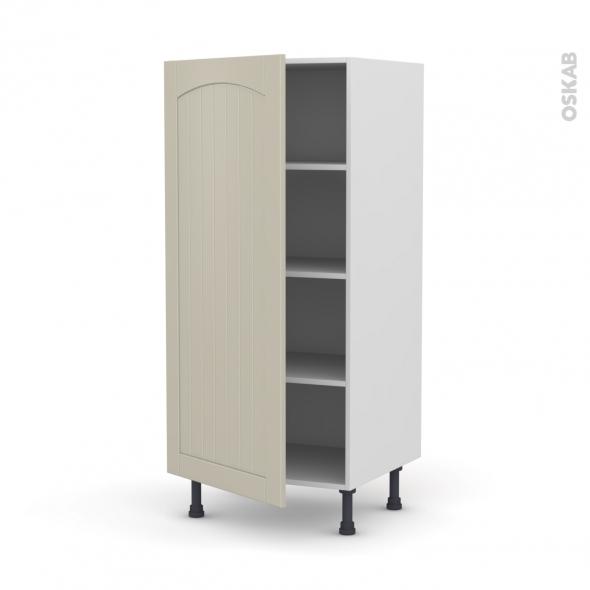 SILEN Argile - Armoire étagère N°27  - 1 porte - L60xH125xP58