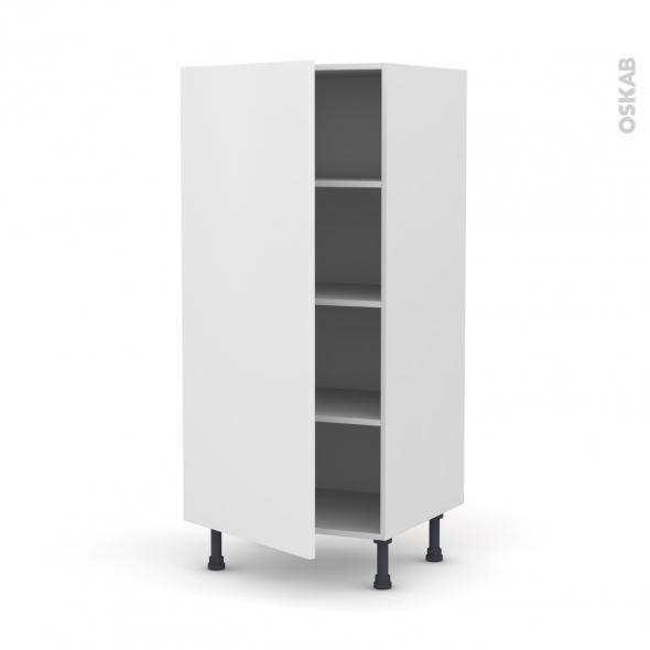 GINKO Blanc - Armoire étagère N°27  - 1 porte - L60xH125xP58
