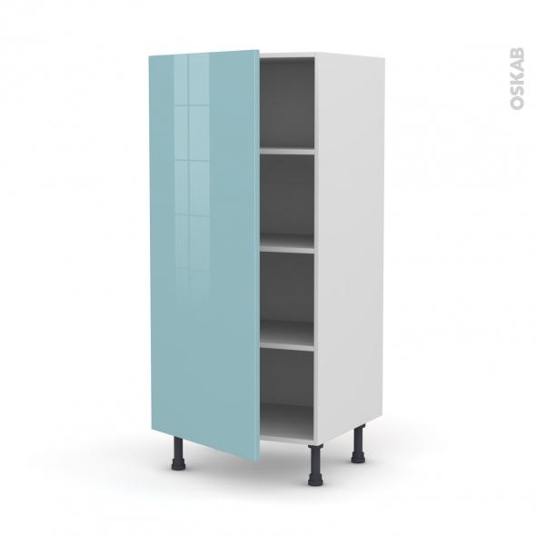 KERIA Bleu - Armoire étagère N°27  - 1 porte - L60xH125xP58