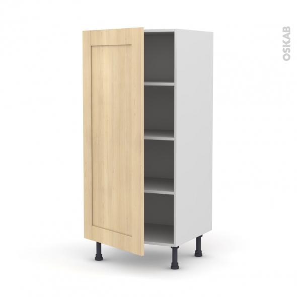 BETULA Bouleau - Armoire étagère N°27  - 1 porte - L60xH125xP58