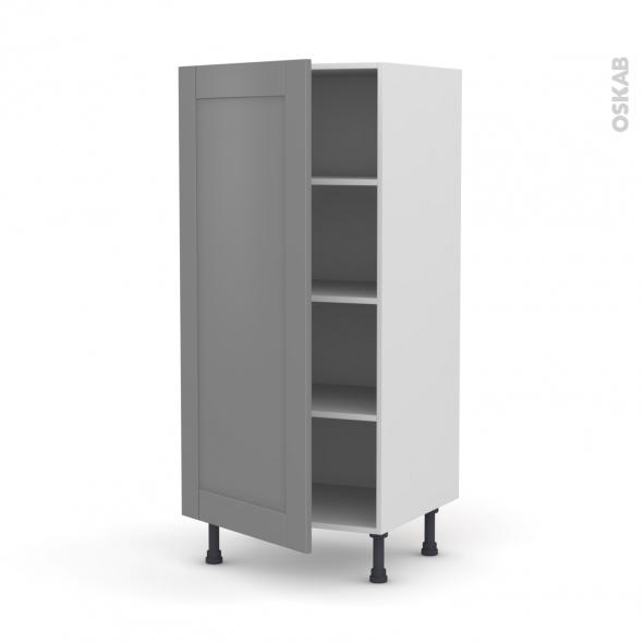 Colonne de cuisine N°27 - Armoire étagère - FILIPEN Gris - 1 porte - L60 x H125 x P58 cm