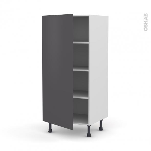 GINKO Gris - Armoire étagère N°27  - 1 porte - L60xH125xP58