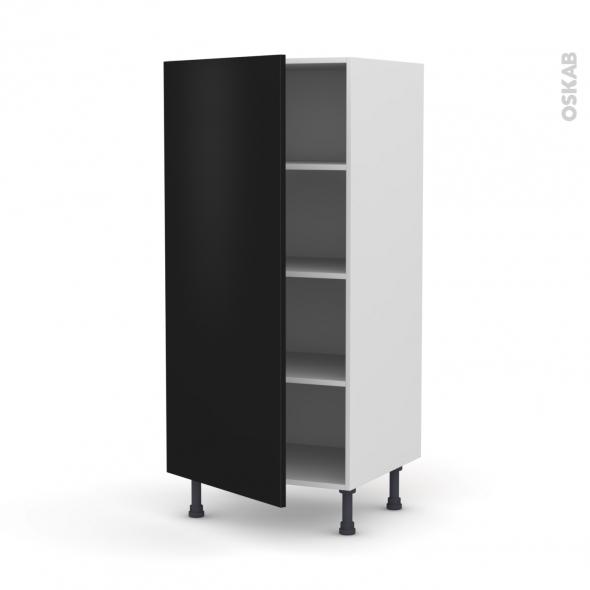GINKO Noir - Armoire étagère N°27  - 1 porte - L60xH125xP58
