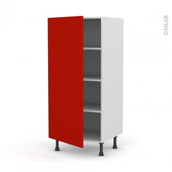 GINKO Rouge - Armoire étagère N°27  - 1 porte - L60xH125xP58