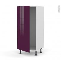 Colonne de cuisine N°27 - Armoire frigo encastrable - KERIA Aubergine - 1 porte - L60 x H125 x P58 cm
